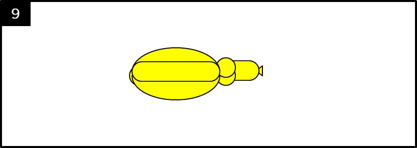 バナナのバルーンアートの作り方