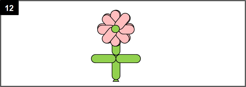花のバルーンアートの作り方
