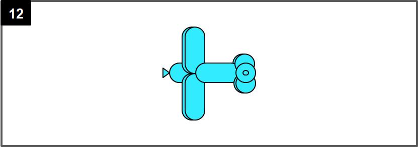 飛行機のバルーンアートの作り方_12