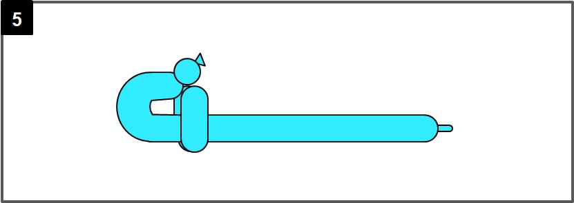 サーベルのバルーンアートの作り方