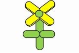 花(4枚)のバルーンアート