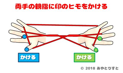 あやとりの3段はしごのやり方
