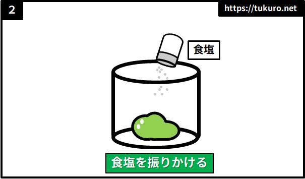 スライムに塩をかける実験